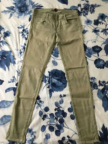 Zara calças justas de cintura baixa tamanho 38
