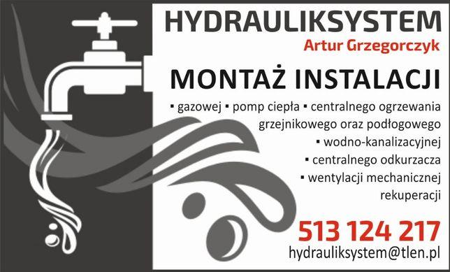Usługi hydrauliczne hydraulik pompy ciepła rekuperacja