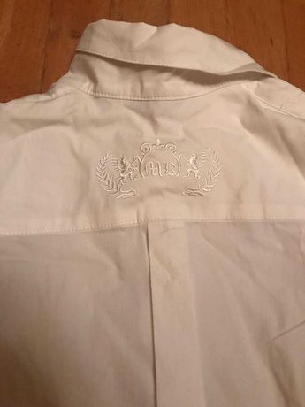 koszula biała elegancka makalu z haftem