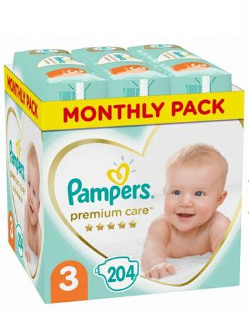 Подгузники Pampers Premium Care Размер 3 (Midi) 6-10 кг, 204 шт