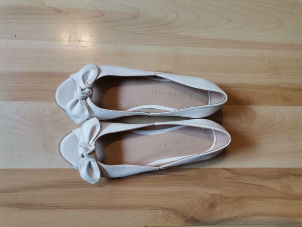 Buty damskie białe baleriny Jenny Fairy rozmiar 36