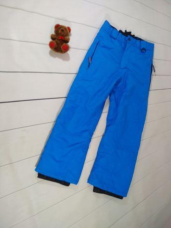 Лыжные теплые штаны на 7-8 лет