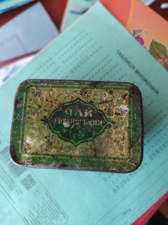 Чай коробка жестяная
