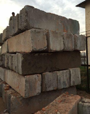 Блок фундаментный б.у. сороковка и пятидесятка.