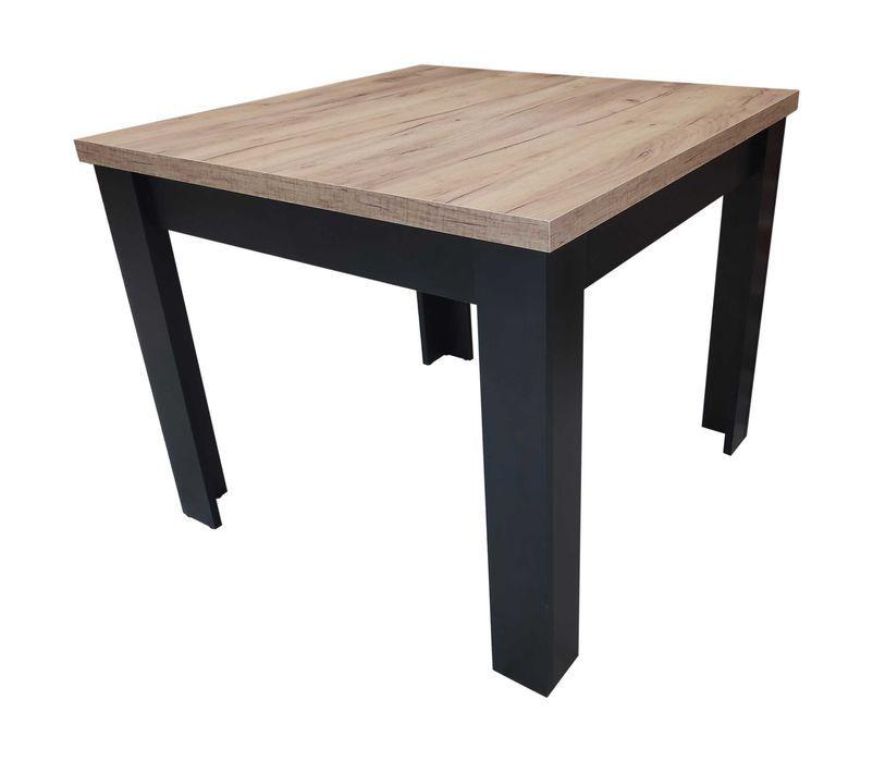 Stół rozkładany 80x80/160 LOFT lancelot dąb złoty