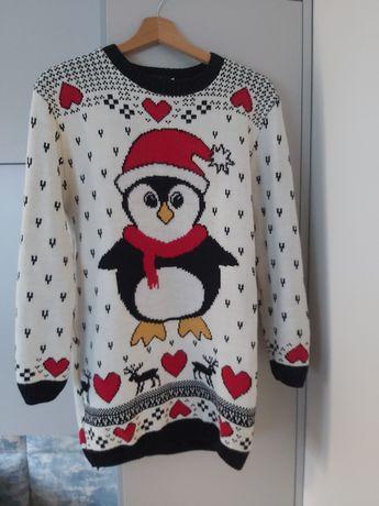 Sweter zimowy tunika