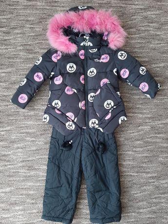 Курточка та штани дитячі на дівчинку зимова
