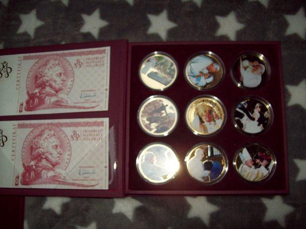 Kolekcja Beatyfikacyjna Jana Pawła II. Certyfikat do każdego medalu.
