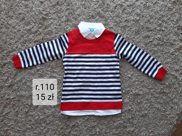 Nowy, bez metki zestaw koszula ze sweterkiem rozmiar 110
