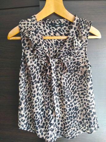 Шифоновая леопардовая блуза oasis S/M