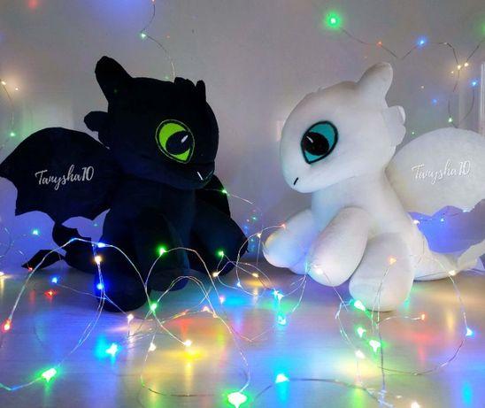 Как приручить дракона мягкая игрушка Беззубик и Дневная Фурия