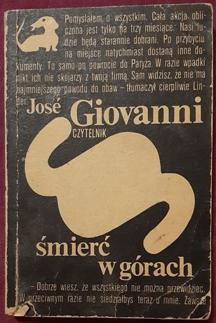 Jose Giovanni - Śmierć w górach. Seria z jamnikiem