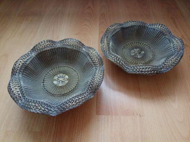 Conjunto de 2 Cestos/Taças Antigas, em Cobre (Técnica de Cestaria)