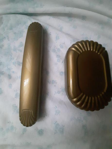 Zestaw mydelniczka i pojemnik na szczoteczke