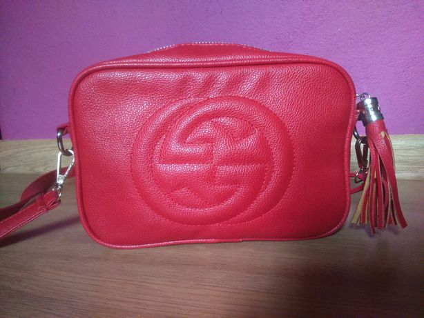 Torebka GUCCI Soho Disco Bag red