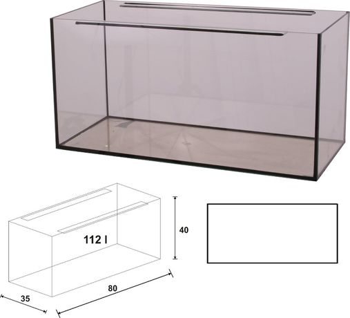 Akwarium 80x35x40 proste 112 litrów