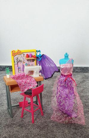 Barbie Mebelki zestaw pracownia krawiecka