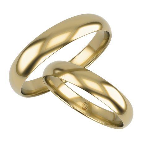 Komplet pięknych obrączek złotych z złota 333 półokrągłe klasyka 4mm