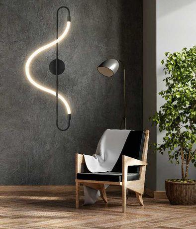 KINKIET Lampa Ścienna Czarna Black LINA LED + PILOT
