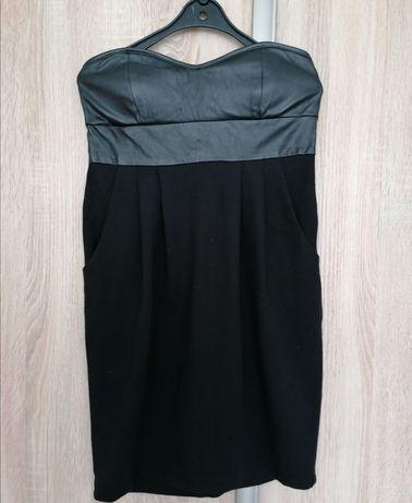 Sukienka skórzana h&m