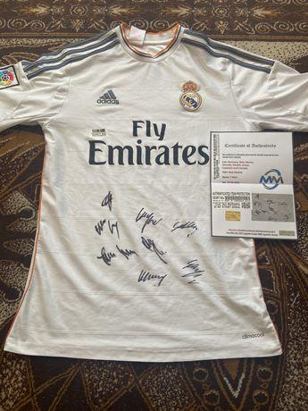 Koszulka Real Madryt Benzema Bale Modric i inni oryginalne autografy