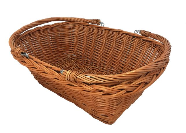 """Kosz wiklinowy """"marketowy"""", na zakupy, owoce, piknik - ŚREDNI (43 cm)"""