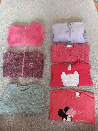Bluzy,sweterki ,czapka r. 86-92