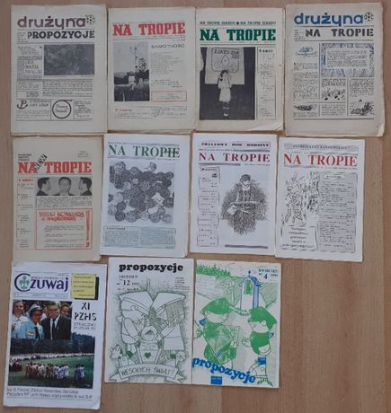 Stare gazety harcerskie Na Tropie