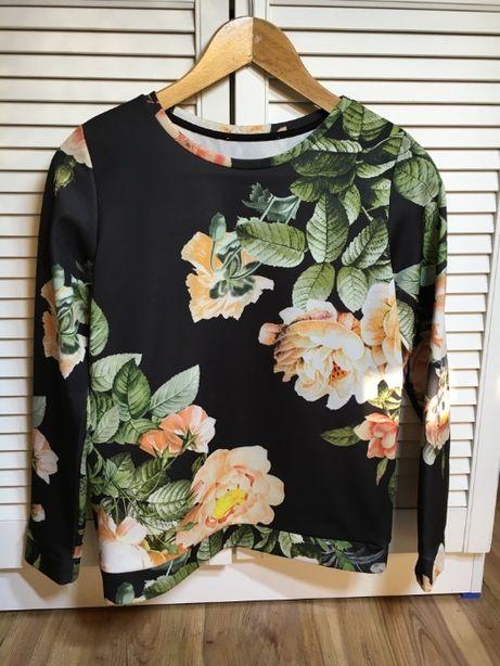 bluza w kwiatki_M