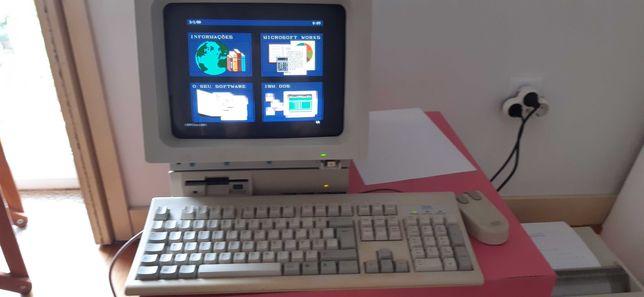 IBM PS1 de 1990, a funcionar, com impressora