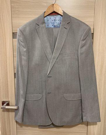 Szary garnitur Vistula - marynarka + spodnie 54L