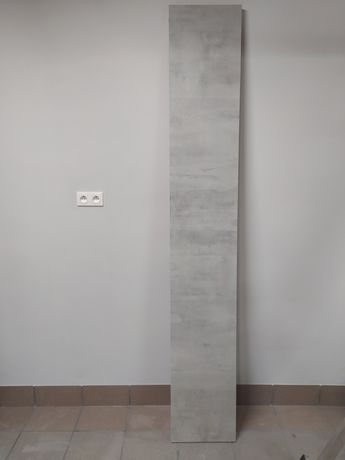 Parapet szary, wygląd beton, 233cm