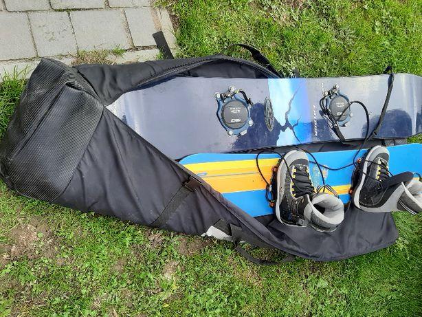 Deska snowboardowa (komplet)