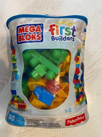 Сортер fisher-price развивающая игра+ паровозик из кубиков