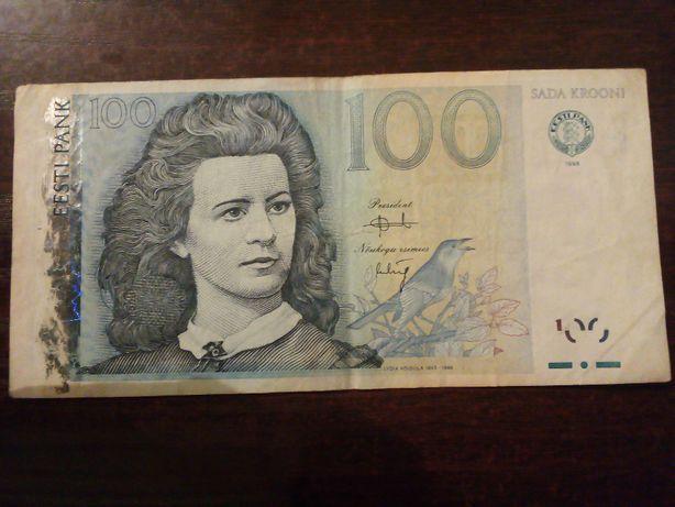Banknot 100 krooni Estonia