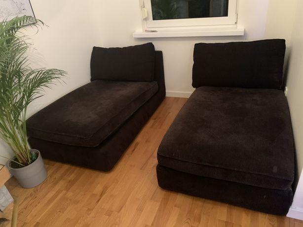Szezlong leżanka KIVIK z IKEA kolor czarny czarna sofa Warszawa Marki