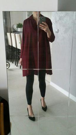 Koszula burgund asymetryczna