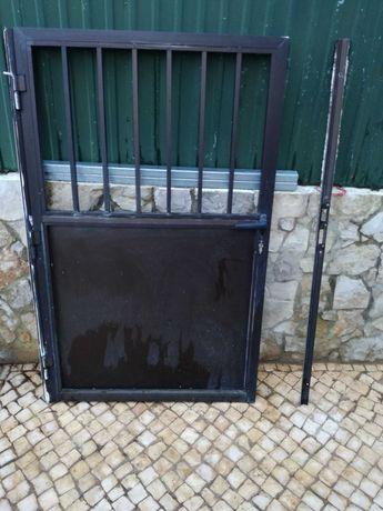 Portão alumínio em bom estado fechadura e chaves
