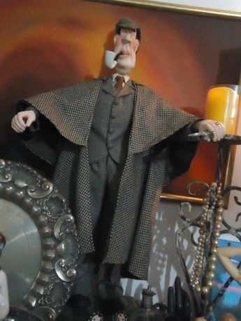 Cinema Estátua Figura Iluste Sherlock Holmes