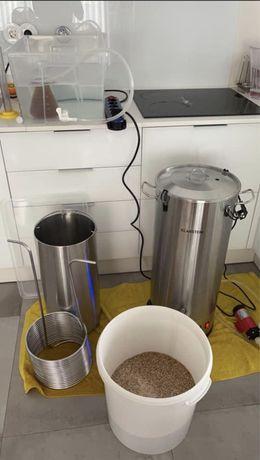 Panela Electrica Cerveja Artesanal 35L c/ Bomba Circulação e Extras