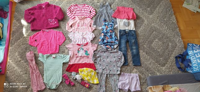 Mega paka ubrań dla dziewczynki 86/92 20 sztuk