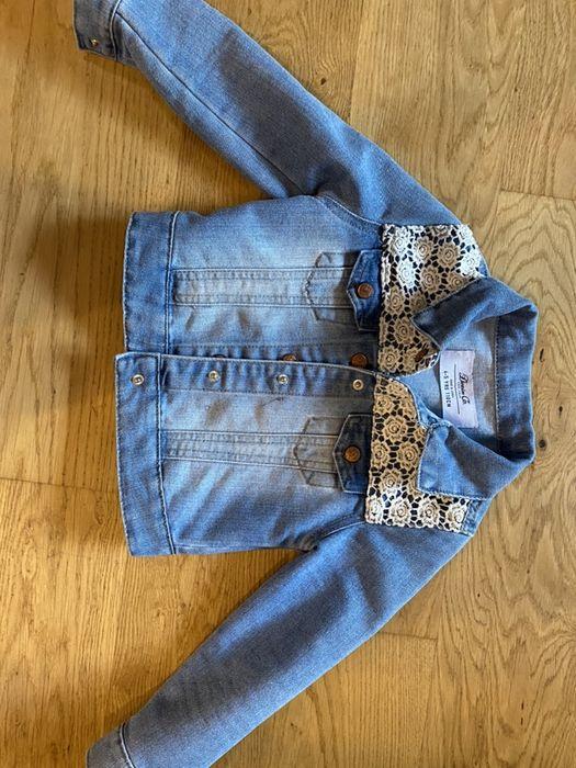 Kurteczka jeansowa z ozdobna koronka 110 Gdańsk - image 1
