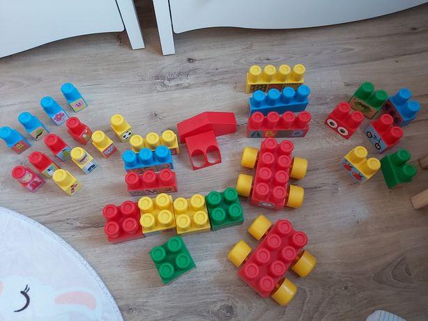 Klocki autka dla dziecka 1+ kolorowe wader 33 elementy