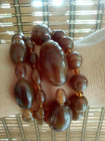 Bransoletki damskie bransoletka brązowe koraliki H&M jak nowe