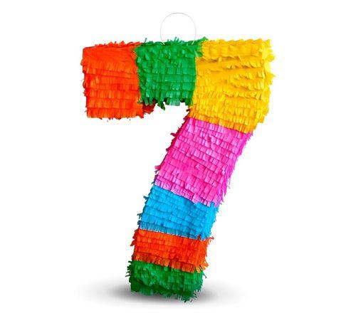 """Piniata cyfra """"7"""" na urodziny dla dziecka Od ręki!"""