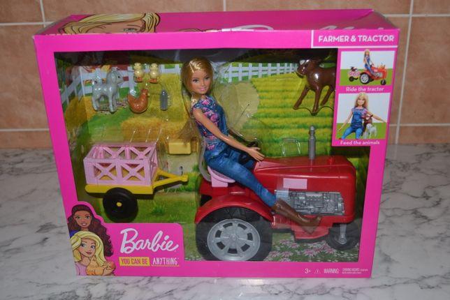 Mattel Barbie Набор Фермер Барби на тракторе с животными