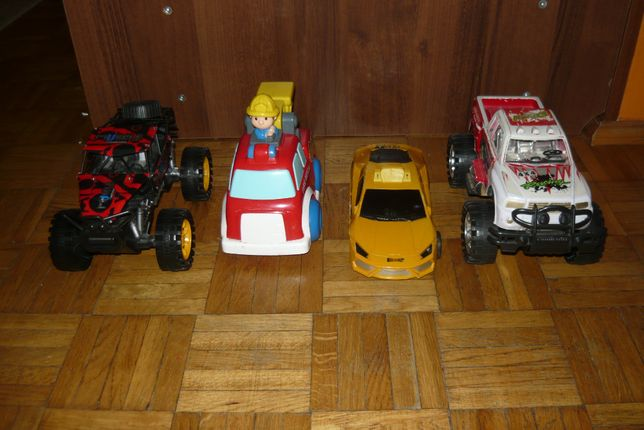 Zabawki Monster Truck - Straż Pożarna - Taksówka - Pick-Up Zestaw