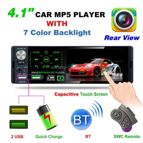Rádio 1din, ecrã tátil, RDS, Bluetooth, mirror link, mãos livres,