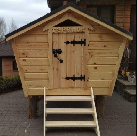 Дерев'яний дитячий будинок детский домик из дерева халабуда