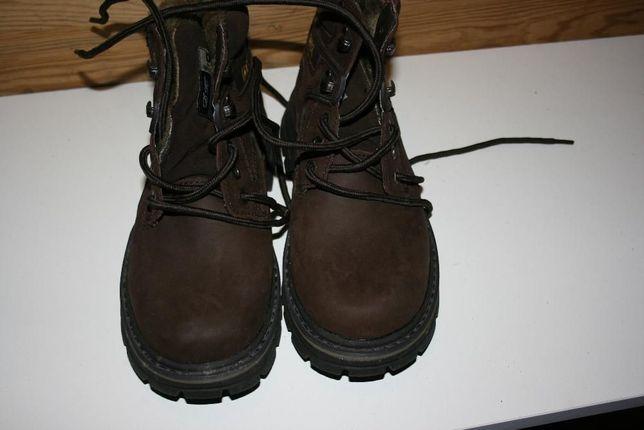 Buty zimowe z futerkiem skórzane nubuk firmowe DK rozmiar 39 NOWE!